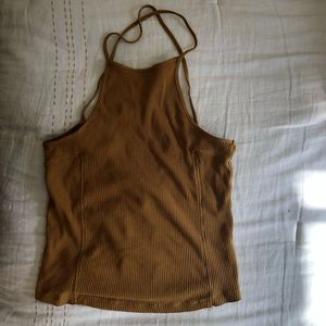 NWOT FREE PEOPLE High Neck Ribbed Top